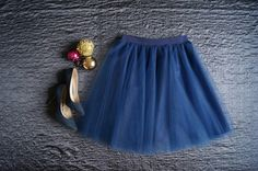 Tulle skirt classic blue handmade wedding bridesmaid. Order by message or visit my shop https://www.facebook.com/cheremyha.store