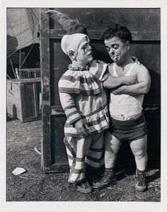 "Clown Business  ""Two Midget Clowns"" 1935 by John Gutmann. Compliments of the Library of Congress"