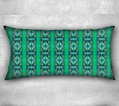 "24x12 pillow ""Green Glass"" by Gaya  #signature #unique #art #designs #exclusive #original #artistic #creation #fashion #accessories #designer #collection #home #decor #pillow #pillowcase #green"