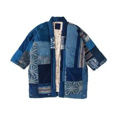 Denim patchwork shirt