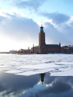 Stockholm Town in Winter Sun