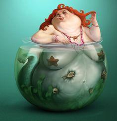 My home mermaid – La sirène obèse par Sasha Gorec | Ufunk.net