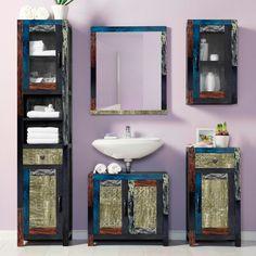 Waschbeckenunterschrank Goa - Mehrfarbig, home 24 Goa, Double Vanity, Mirror, Bathroom, Frame, Furniture, Home Decor, Live, Products