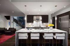 Waterfall counters kitchen modern with under cabinet lighting kitchen island