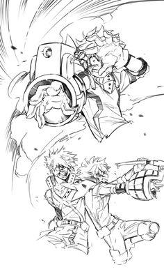 Boku no Hero Academia    Katsuki Bakugou, Midoriya Izuku.