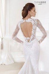Tarik Ediz свадебные платья с открытой спиной и кружевом