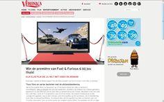 Klant: Stichting VOD, Campagne VOD release Fast & Furious 6, VeronicaMagazine.nl, landingspagina / artikel