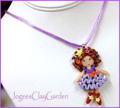 Fancy Nancy ballerina - Boutique Polymer Clay Necklace. $12.00, via Etsy.
