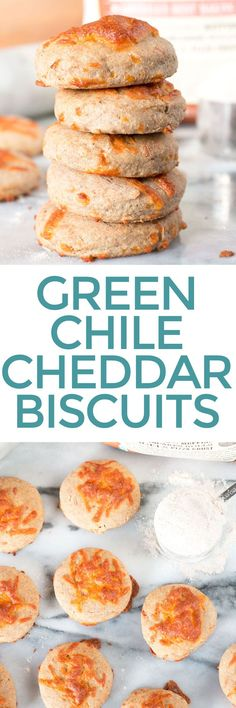 Green Chile Cheddar Whole Wheat Biscuits – Cake 'n Knife