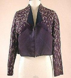 Schiaparelli Couture Aubergine Satin Jacket