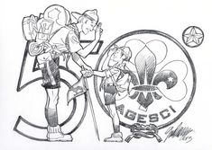 Cub Scouts, Girl Scouts, Disney Italia, Hugo Pratt, Camping Drawing, Baden Powell, Pin Up Illustration, Scout Activities, Boys Life