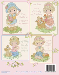 precious moments poppy seed cross stitch | PM75 Front Cover - Retails: $12.50