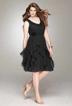 Sixe 14, 18 and 20 $59.96 Avenue Plus Size Rosette Trim Ruffle Skirt Dress