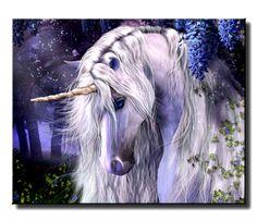 Beautiful Unicorn Art | Details about Beautiful Fantasy Unicorn-QUALIT Y Canvas Art Print A4 ...