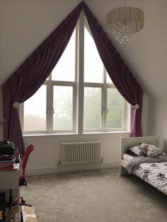 tolle ideen wie sie ihr dreiecksfenster verdunkeln gardinen pinterest gardinen. Black Bedroom Furniture Sets. Home Design Ideas