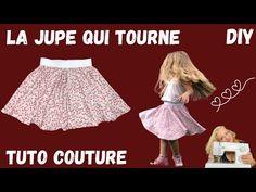 Jupe qui tourne - Tutoriel Couture Facile Débutant - YouTube Blog Couture, Skater Skirt, Ballet Skirt, Summer Dresses, Skirts, Fashion, Tuto Couture Facile, Skirt, Children