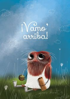 Y con fuerza, Humor, Painted Rocks, Memes, Drawings, Illustration, Funny, Cute, Painting, Yerba Mate
