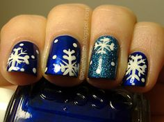 Snowflake nails!