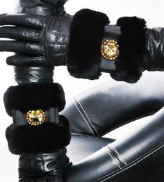 LUXE-fourrure-vison-Manchettes-visone-Luxury-MINK-FUR-CUFFS-pelliccia-polsini-piel
