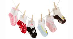 The littlest feet make the biggest footprints in our hearts! Sock Set of 6 - - FREE SHIPPING ON EVERY ORDER!