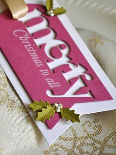 Merry Napkin Ring Detail