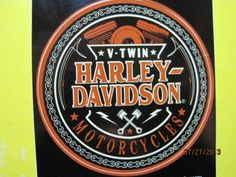 HARLEY-DAVIDSON-V-TWIN-CIRCLE-LOGO-DECAL-FOUR-INCH-SIZE-GREAT-COLORS