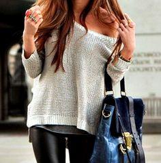 I love gray and I love sweaters