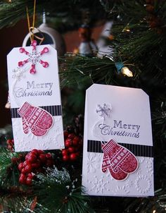 QFTD Mitten Tag by Darla Ryan - Cards and Paper Crafts at Splitcoaststampers
