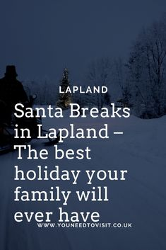 Lapland is one of the most breathtaking, remote and beautiful destinations in the world. Having the opportunity to visit Santa Claus in his North Pole home with our children was a once in a lifetime experience.