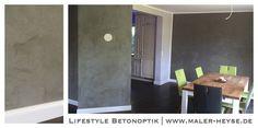 Lifestyle im Wohnhaus mit anspruchsvollen Oberflächen - gerne auch mal in Betonoptik.