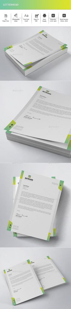 Corporate Letter Head Stationery printing, Print templates and - stationery for word documents