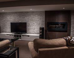 Modern, dark and cozy. #basement
