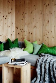 """This cosy cabin sitting corner is from our feature """"Winter Warmers"""""""