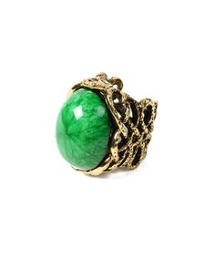 Look what I found on #zulily! Gold & Evergreen Bridgehampton Ring by Amrita Singh #zulilyfinds