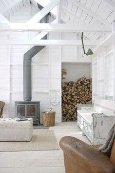 wood stove..