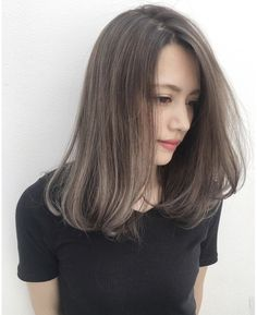 Medium Hair Cuts, Medium Hair Styles, Long Hair Styles, Ombre Hair Color, Hair Color Balayage, Under Hair Color, Korean Hair Color, Haircuts Straight Hair, Shot Hair Styles