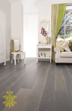 Grand Oak Timber Flooring: Alaskan Grey House Show Engineered Timber Flooring, Cheerleading Bows, Grey Houses, Tiles Texture, Floor Colors, Grey Oak, Flooring Options, Laminate Flooring, Hardwood