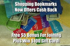 SHOPPING BOOKMARKSYou can have cash back in hundred of places that you always do shopping .There are more than one hundred of FREE CATALOGSYou can have printable coupons!!!Everybody likes to save money while shopping. So this is the great place.Here are some great places to look at, Kim's Blog   Printable Coupons   Buy Now, Pay Later   Buy Online, Pick Up Instore   Free Catalogs   Just Pay Shipping Offers   Sweepstakes  GO HERE AND SEE MORE DETAILS AND REGISTER…