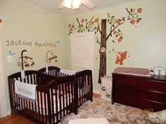 Baby bedroom themes nursery ideas for twins twin babies bedroom twin baby room twin baby boy Small Twin Nursery, Twin Baby Rooms, Girls Twin Bed, Small Nurseries, Baby Nursery Art, Nursery Twins, Baby Nursery Neutral, Baby Bedroom, Nursery Room