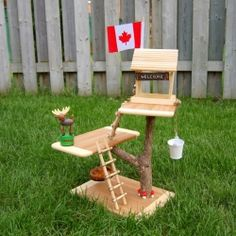 Summer's coming, so how about making a toy treehouse for your kids?