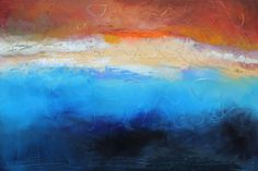 """""""Tidal Phase II,"""" Acrylic on Canvas, 48 x 72 in."""