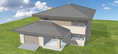 Projekt domu Korso 170,52 m2 - koszt budowy - EXTRADOM Small House Plans, Modern House Design, Bungalow, Gazebo, Architecture Design, Sweet Home, Construction, Exterior, Outdoor Structures