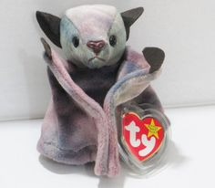 Ty Beanie Baby Batty Tie dye 5th Generation Swing Tag 6th Gen Tush Retired  #Ty #BeanieBaby