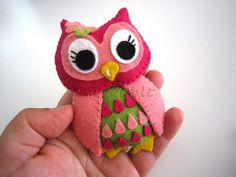 Felt Owl | Love the eyes details! <3