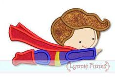 Superhero 3 - Flying Boy Applique 4x4 5x7 6x10 SVG