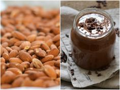 DIY almond butter with chocolate & crunch - A tasty love story