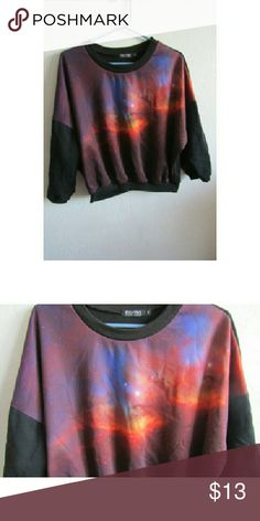 Intergalactic Galaxy/space sweater Galaxy/nebula design sweater.  In great condition Sweaters