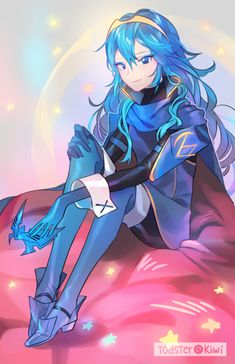 Lucina looks so pretty with makeup on ✨