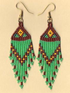 beaded earrings patterns native american - Google Search