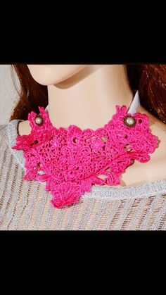 ✨pink lace bib necklace ✨ ______________________________________________________ #fashion #jewelry #style #jewelrylover #boutique #eyecandy #bib #necklace #chic #unique #neon   www.mommymoiselle.storenvy.com